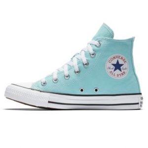Aqua Converse Chuck Taylor hi top sneakers